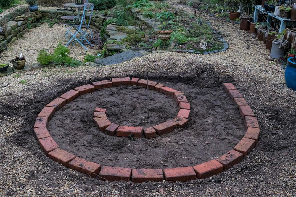 Eigentlich Wird Empfohlen, Die Spirale Auf Ein Schotterbett Zu Setzen  Zwecks Besserer Drainage. Das Habe Ich Mir Angesichts Unseres Durchlässigen  Bodens ...