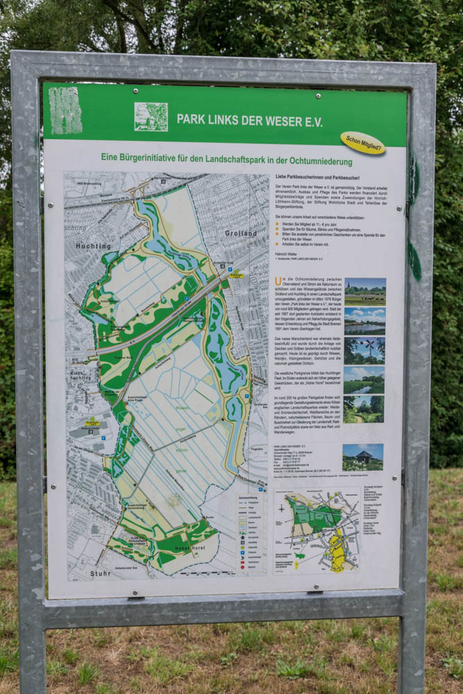 Infotafel Park Links der Weser e.V.
