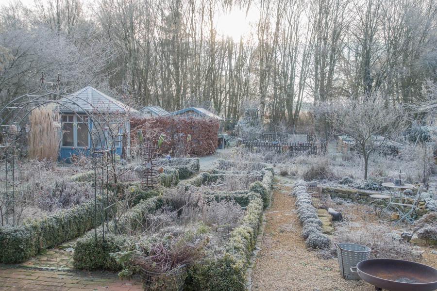 Frostzauber Gartenblick