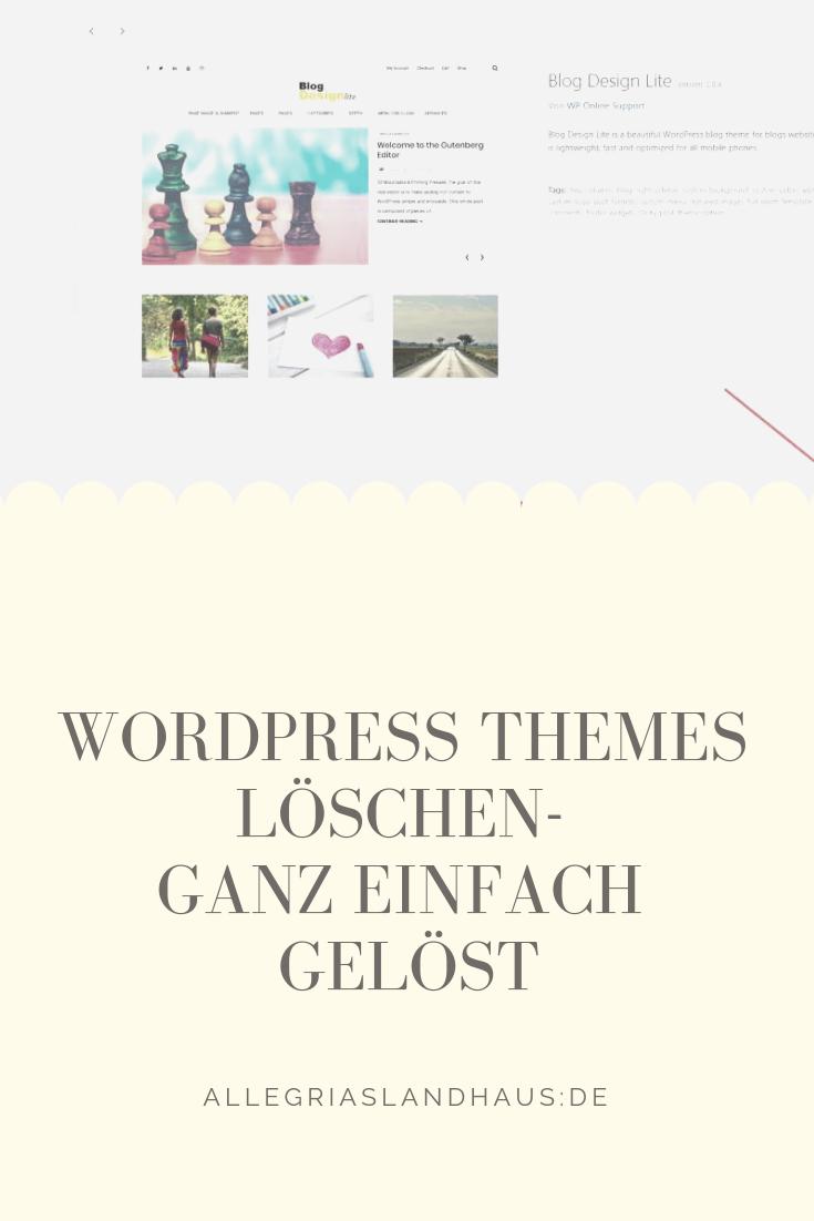 Wordpress Themes löschen