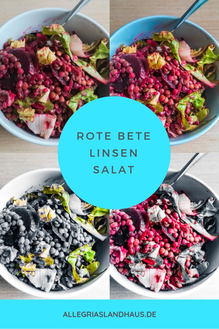 Rote Bete Linsen Salat zum Pinnen