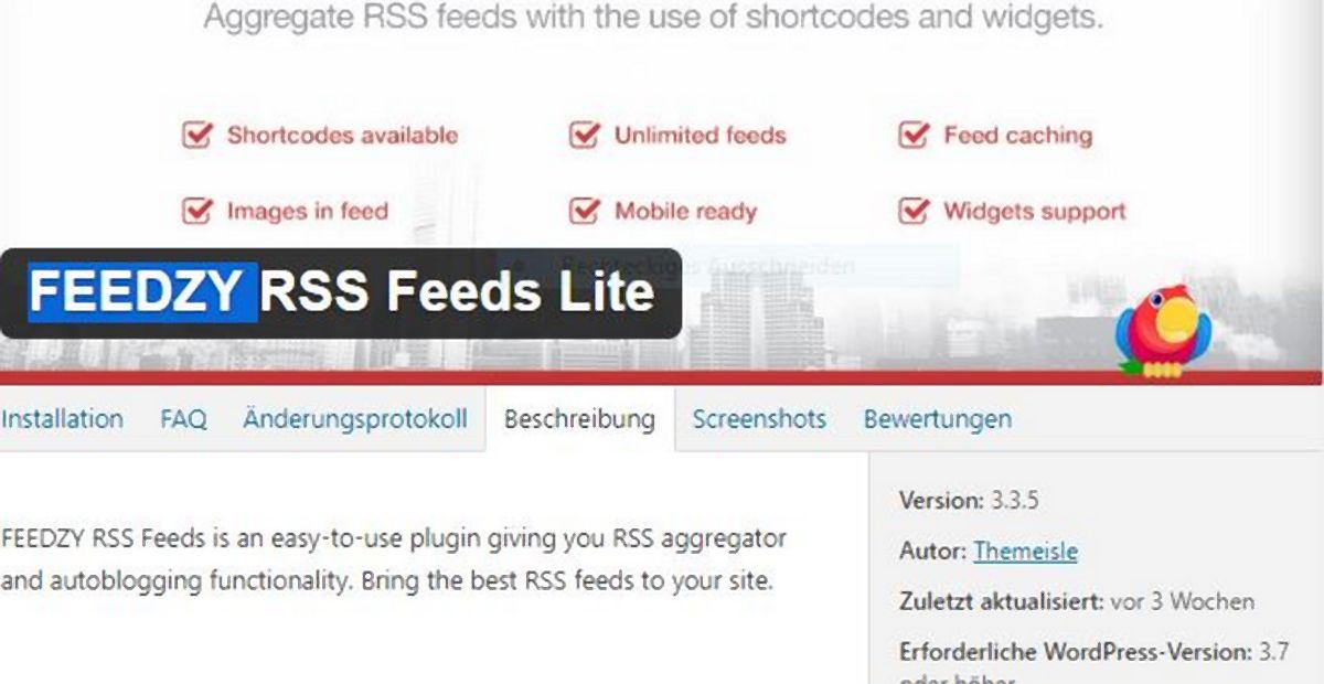 plugin feedzy