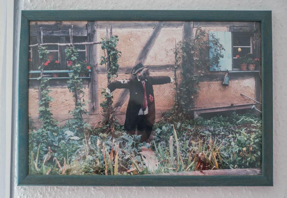 Vogelscheuche aus dem Ecomusee bei Mulhouse
